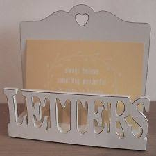 wooden vintage retro wall mounted letter racks ebay