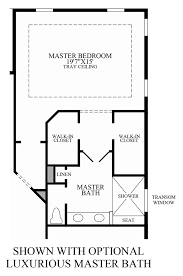 luxury master suite floor plans regency at palisades the merrick model