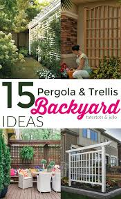 Pergola Backyard Ideas 15 Outdoor Privacy Screen And Pergola Ideas