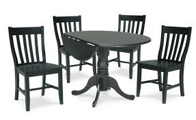 Pedestal Kitchen Table And Chairs - sofa decorative black round kitchen tables 5ft round wood