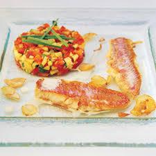 3 cuisine recette recette rouget à la crème d ail ratatouille minute cuisine