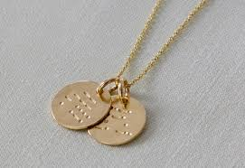 morse code necklace personalized morse code necklace morse code gift and gold