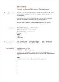 blank resume templates pdf free blank resume template 10 templates word psd pdf sles