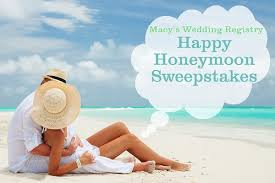 vacation wedding registry macy s wedding registry happy honeymoon sweepstakes sweepstakesbible
