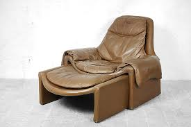 italian proposals leather lounge chair with ottoman by vittorio