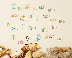 Alphabet Wall Decals For Nursery Letters In Animals Vinyl Wall Decals Nursery Sticker