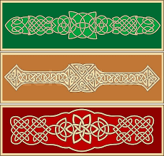 celtic ornaments and patterns for design and ornate stock vector