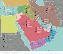 Middle East Countries Map Visualize English Language Map Of Middle East Countries And Region