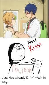Just Kiss Meme - sz ms alnd gg just kiss already d admin kay meme on me me