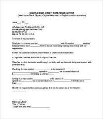 credit reference letter 9 free word pdf documents download