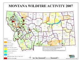 Montana County Map by Montana Legislature Fire Suppression Interim Committee 2007 2008