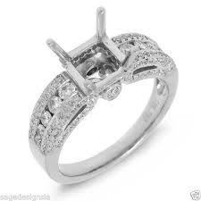 semi mount engagement rings 7x7mm princess cut semi mount engagement ring setting 18k