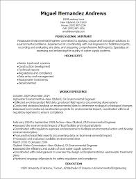 Examples Of Summary On Resume by Professional Environmental Engineer Resume Templates To Showcase