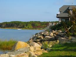 river beach grass water lake nature architecture trees house art
