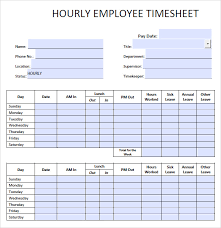 Construction Timesheet Template Excel 9 Blank Timesheet Templates Free Sle Exle Format