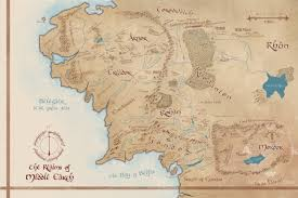 a map of middle earth map of middle earth illustrated tolkien map geeky home decor