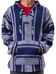 Mexican Rug Sweater Mexican Baja Poncho Hoodie