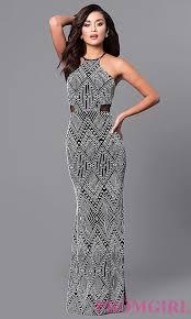 tribal dress black and white tribal print prom dress promgirl
