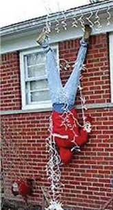 hanging christmas lights safety tip safety tip 25 use a stepladder to safely