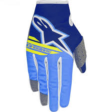 alpinestars motocross gloves 2018 alpinestars radar flight gloves blue aqua yellow sixstar racing