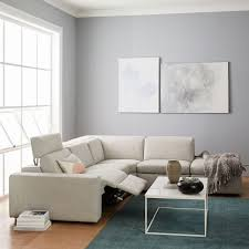 Four Seater Recliner Sofa Enzo Reclining 4 Seater Sectional West Elm