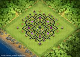 clash of clans archer queen th9 no archer queen th9 hybrid base by greenlance clash of clans