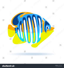 angel fish vector illustration isolated on stock vector 189790154