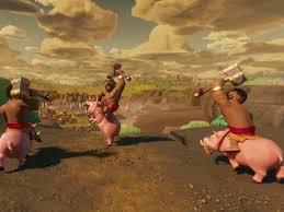 clash of clans hog rider 360 clios