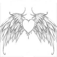 Hearts With Wings - hearts with wings coloring pages coloring pages with wings