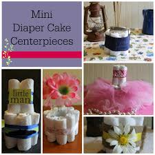 simple baby shower decorations diy baby shower centerpieces using diapers frugal fanatic