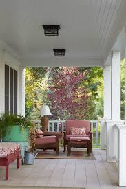 beadboard porch ceiling porch traditional with blue and brown tv