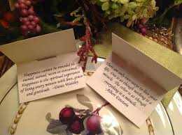 Design Your Own Place Cards Renaissance Mermaid Thanksgiving Blessings Place Cards