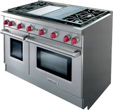 wolf gr484cglp 48 inch pro style gas range with 4 dual stacked