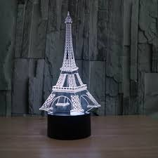 eiffel tower table illusion eiffel tower table decorations led desk l as gift free