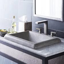 native trails montecito stone rectangular drop in bathroom sink