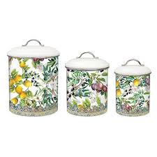 tuscan canisters kitchen michel design works kitchen 3 canister set tuscan grove