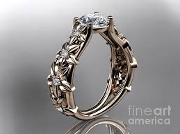 steunk engagement ring gold floral wedding ring engagement ring with cushion