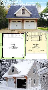 Single Story House Plans With Inlaw Suite by Plan 29887rl Snazzy Looking Carriage House Plan Carriage House
