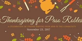 donate to thanksgiving for paso robles tickets tue nov 28 2017