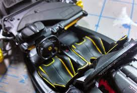ferrari yellow interior king u0027s hobby shop tamiya la ferrari build review by johnny seaman