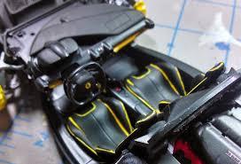 ferrari yellow interior king u0027s hobby shop tamiya la ferrari build review by johnny seaman