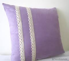 sweet romantic purple lace pillow cover shabby chic color choice