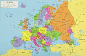 map of euarope country map of europe build info graphic vector map europe stock