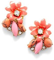 earrings new york kate spade new york glossy petals cluster stud earrings where to