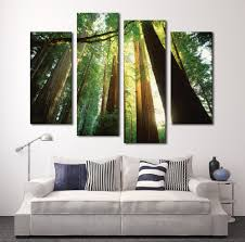 selling artworks promotion shop for promotional selling artworks 2017 green forest 4 panels hd canvas painting artwork hot sell modern wall art the picture gift for living room