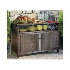 outdoor wicker storage cabinet outdoor buffet wicker counter sideboard console brown serving