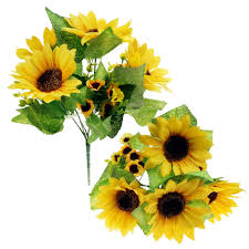 Flowers For Home Decor by Amazon Com Bilipala Artificial Sunflower Flowers Bouquet For Home