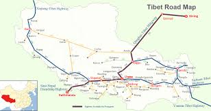 Canada Highway Map by Tibet Road Map Road Map Of Tibet