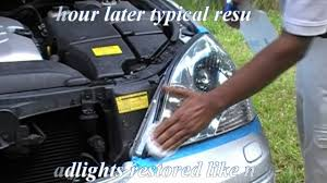 lexus dealership fort lauderdale lexus hazy cloudy headlights clean u0026 restore headlight