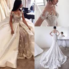 lace wedding dress removable sleeves samples lace wedding dress